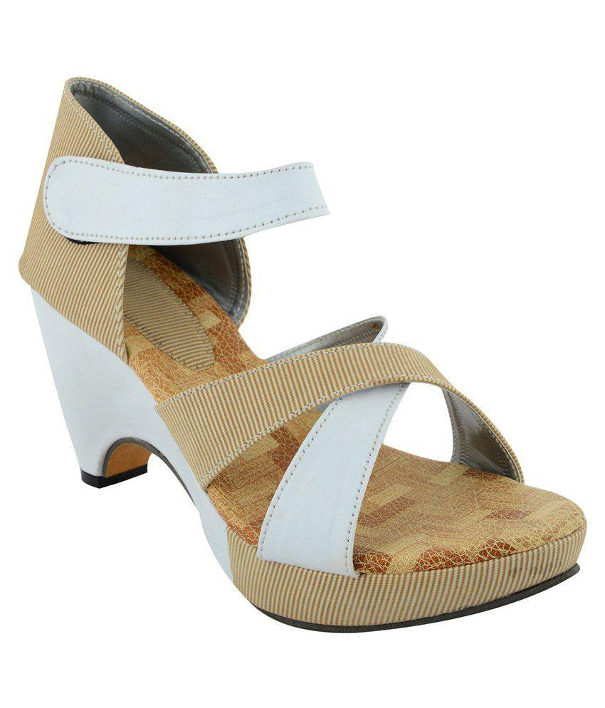 Footgear White Block Heels
