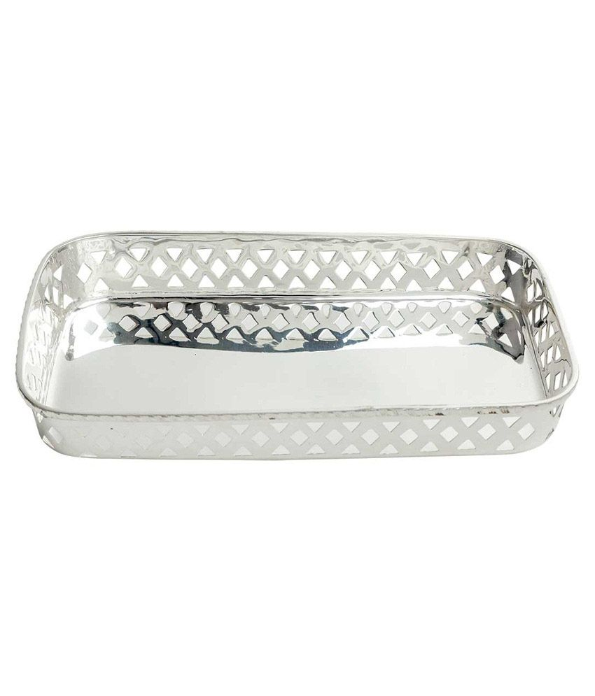 N decor n decor silver brass tray best price in india on for Aana decoration decorative tray