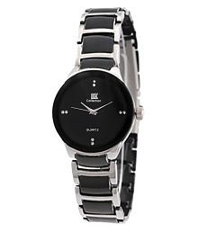 IIK Collection Black and Silver Analog Watch