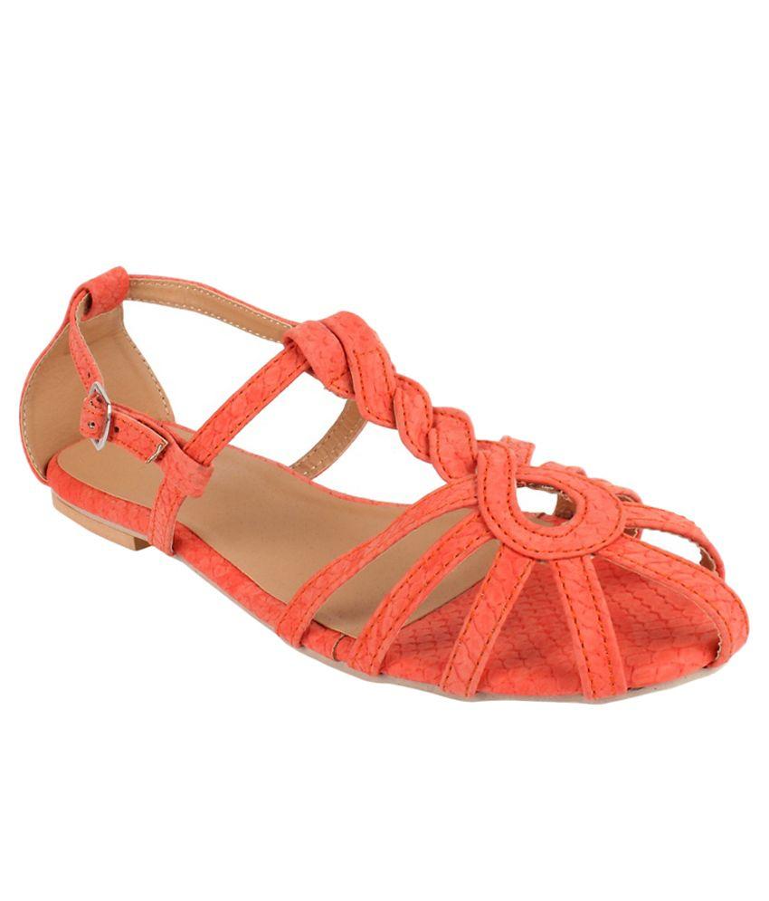 Apick Orange Flats