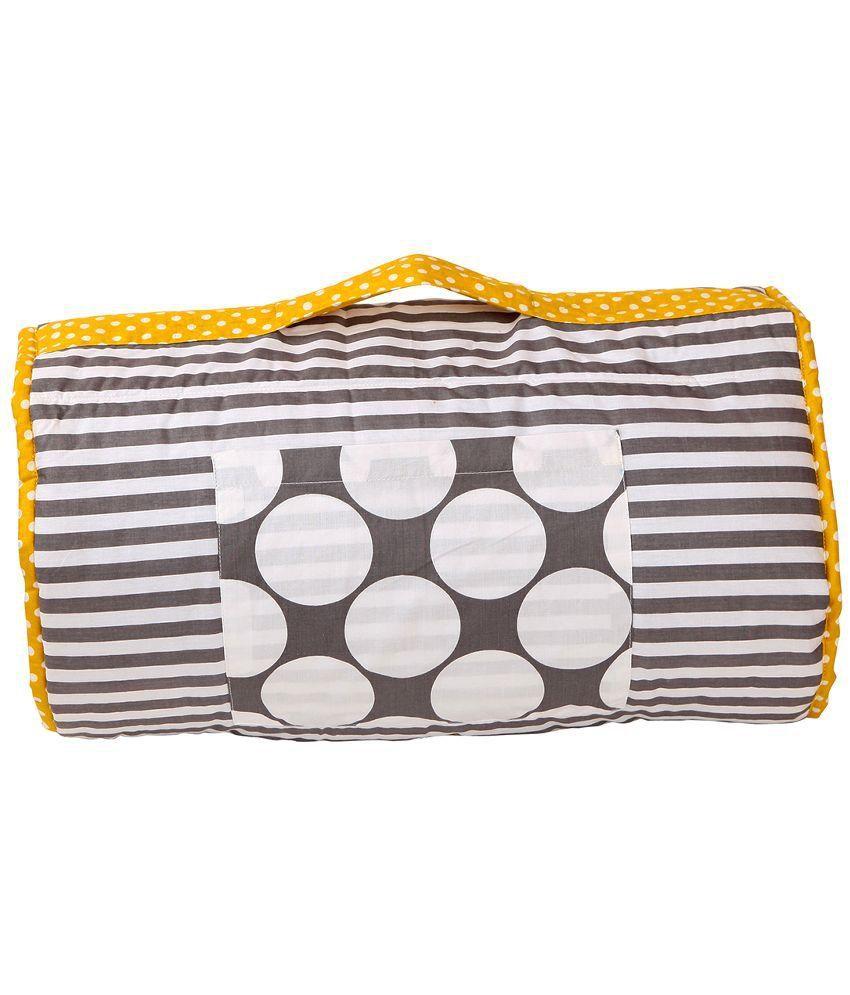 Bacati Grey and Yellow Sleeping Bag Bag Baby Blanket/Baby Swaddle/Baby Wrap