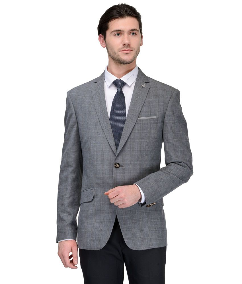 Canary London Grey Casual Blazers