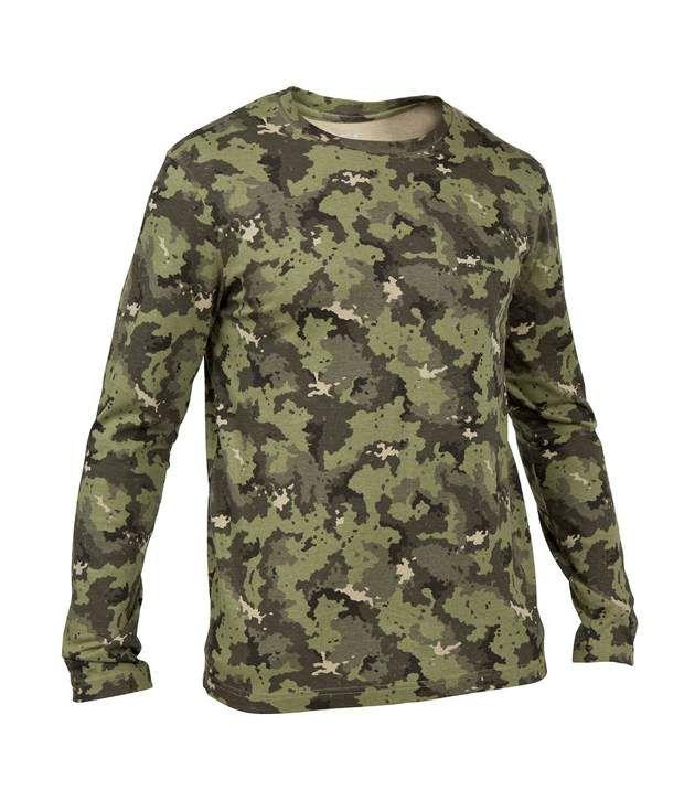SOLOGNAC Steppe 100 LS T-Shirt Island Green