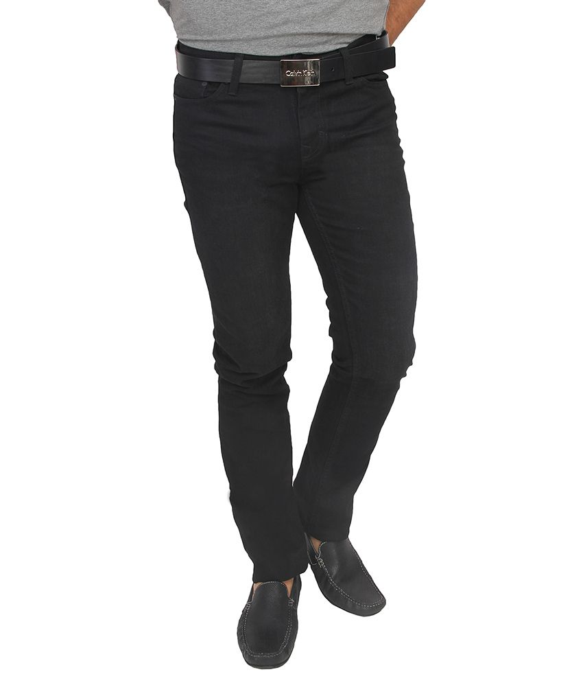 6126d15aa00 Calvin Klein Jeans Black Skinny Fit Jeans - Buy Calvin Klein Jeans Black  Skinny Fit Jeans Online at Best Prices in India on Snapdeal