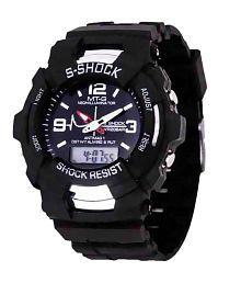 Lecozt Black Analog-Digital Watch