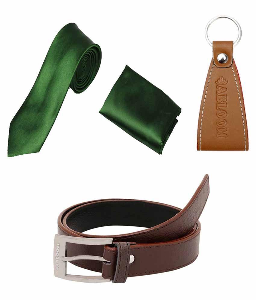 Abloom Brown PU Casual Belts