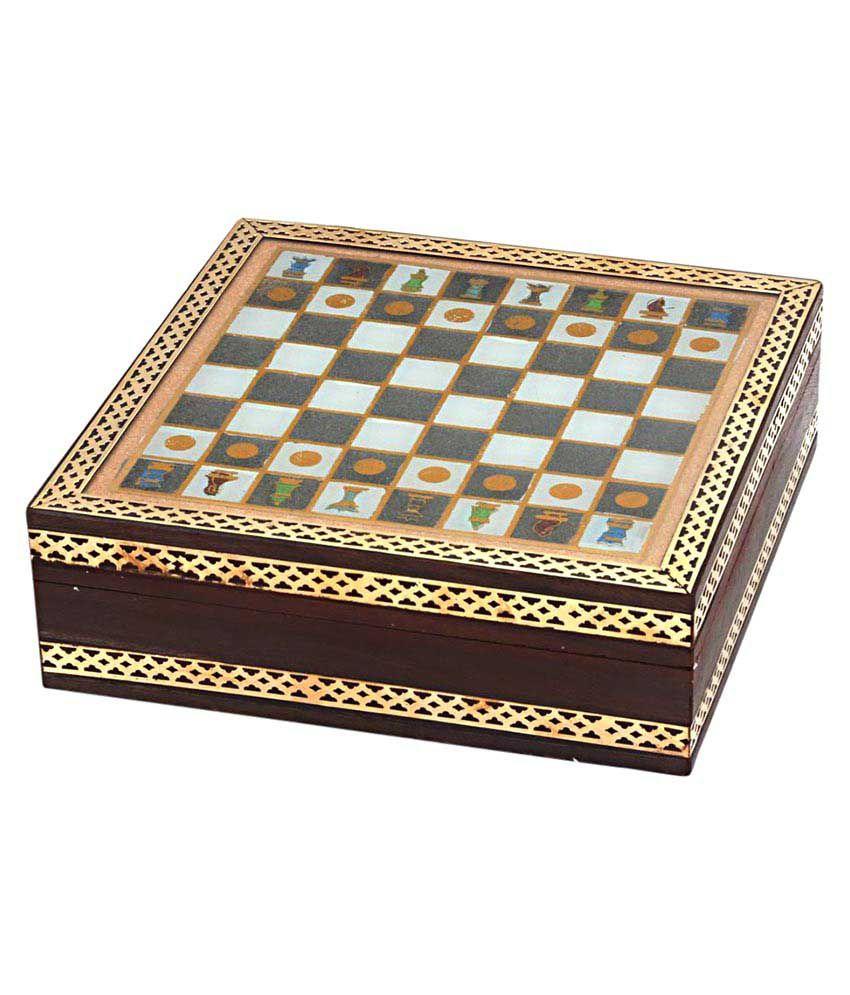 Kiran Udyog Handmade Rajasthani Gemstone Chessboard Game -210