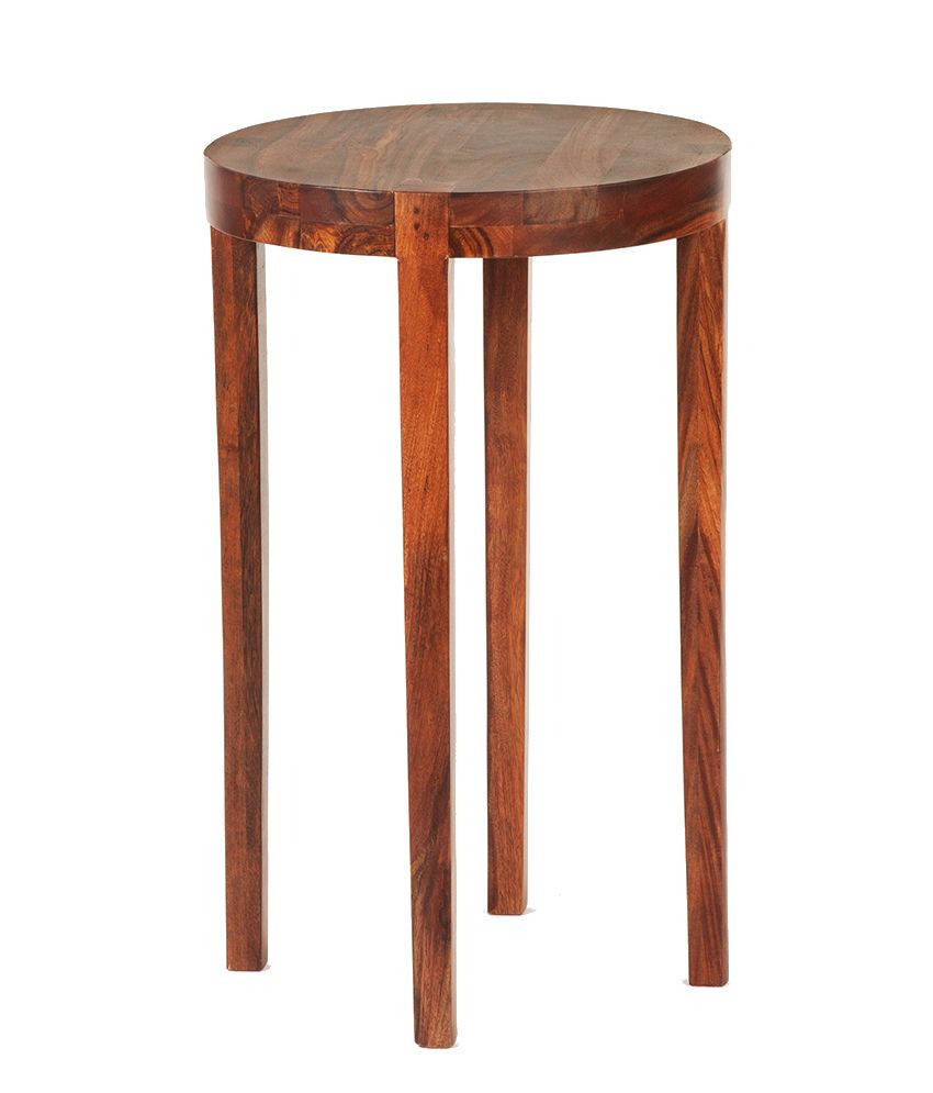 Oragne Tree Criss Round Top Side Table