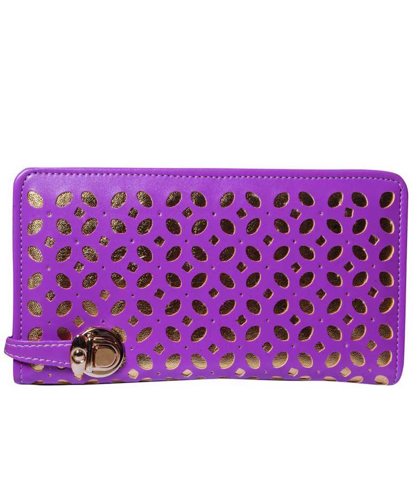 Style Adda Purple Faux Leather Shoulder Bag