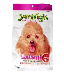 JerHigh Salami Dog Treat 70 G (Pack Of 3)