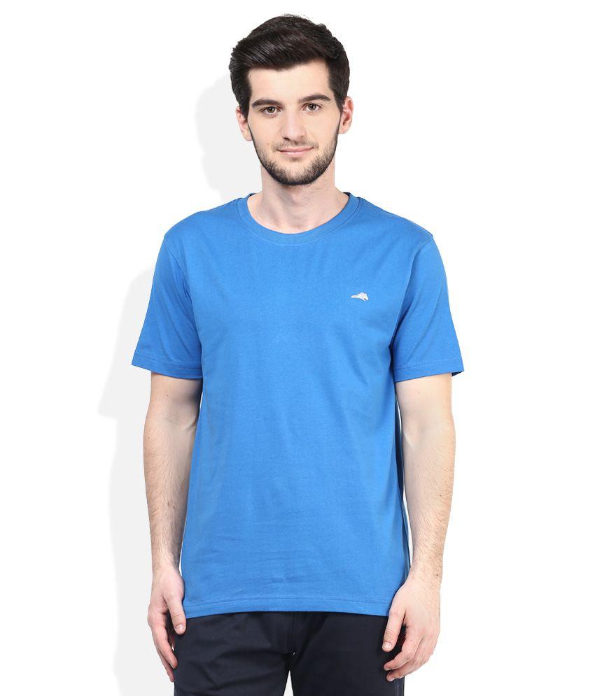 2go Blue Round Neck T-Shirt
