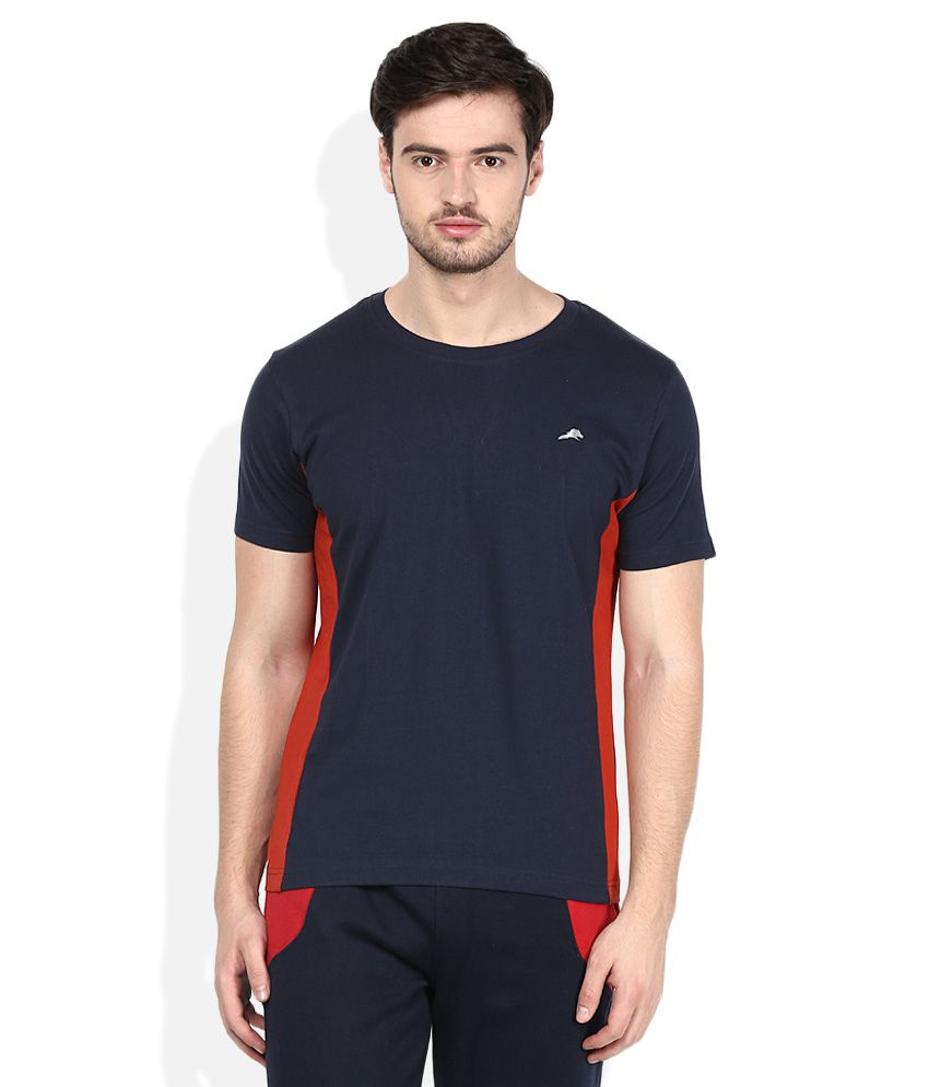 2go Navy Round Neck T-Shirt