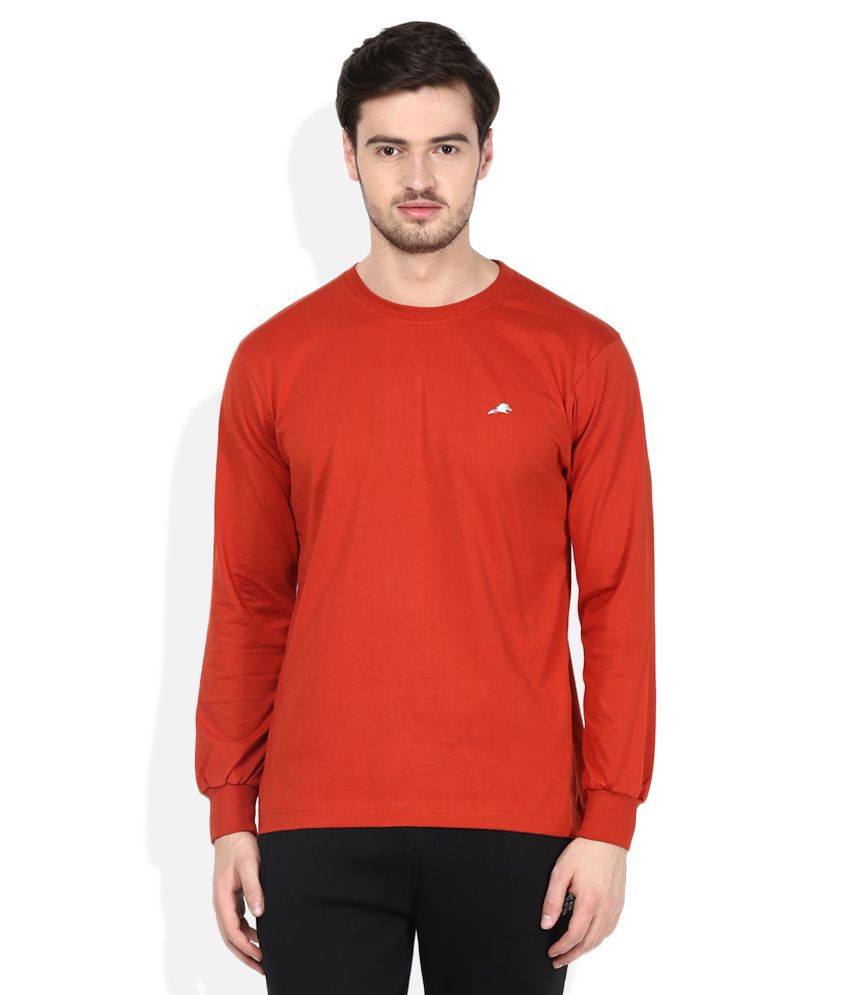 2go Orange Round Neck T-Shirt
