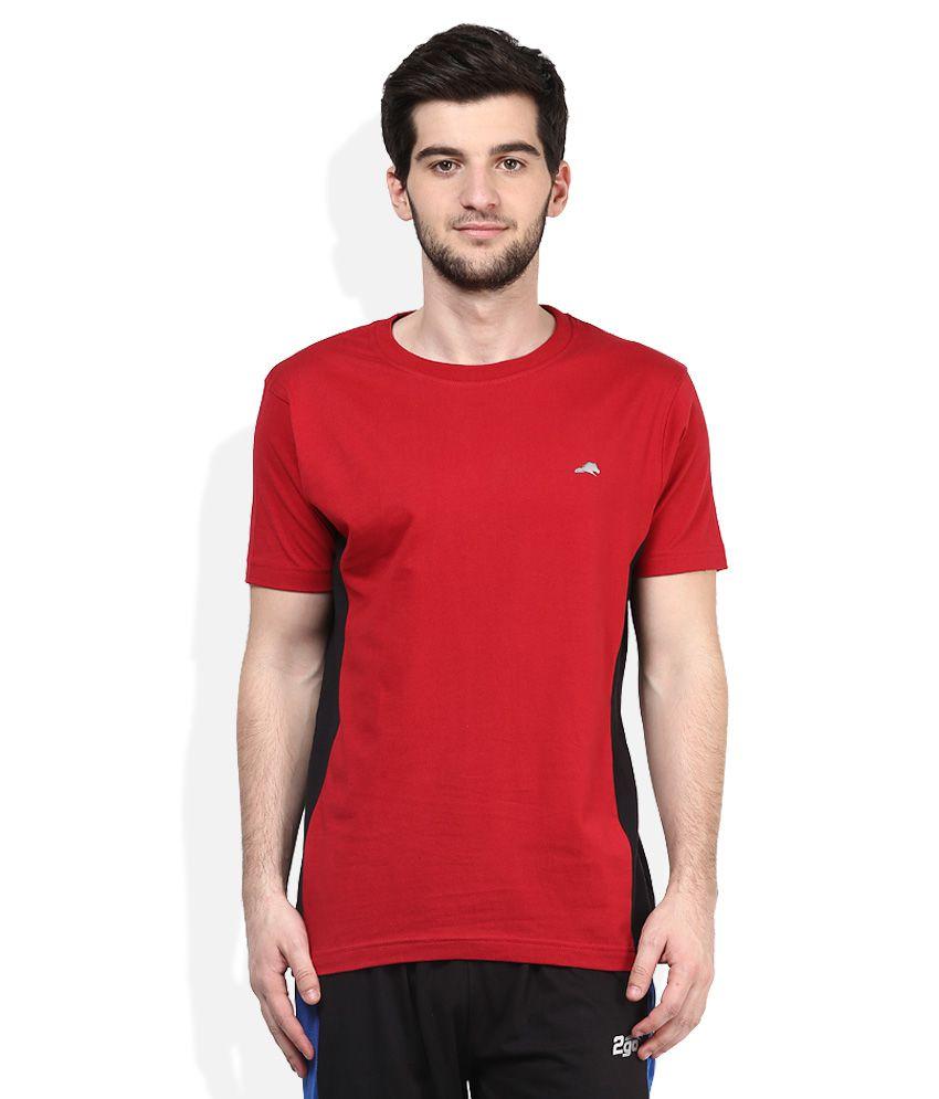 2go Red Round Neck T-Shirt