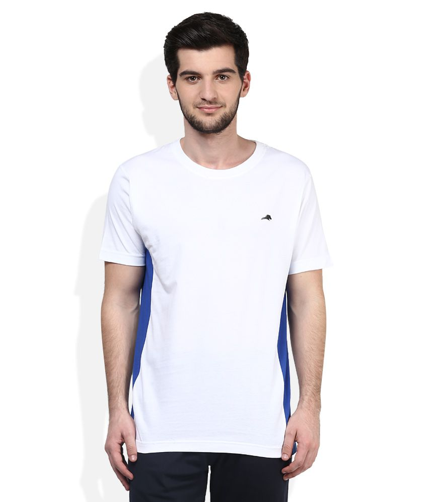 2go White Round Neck T-Shirt