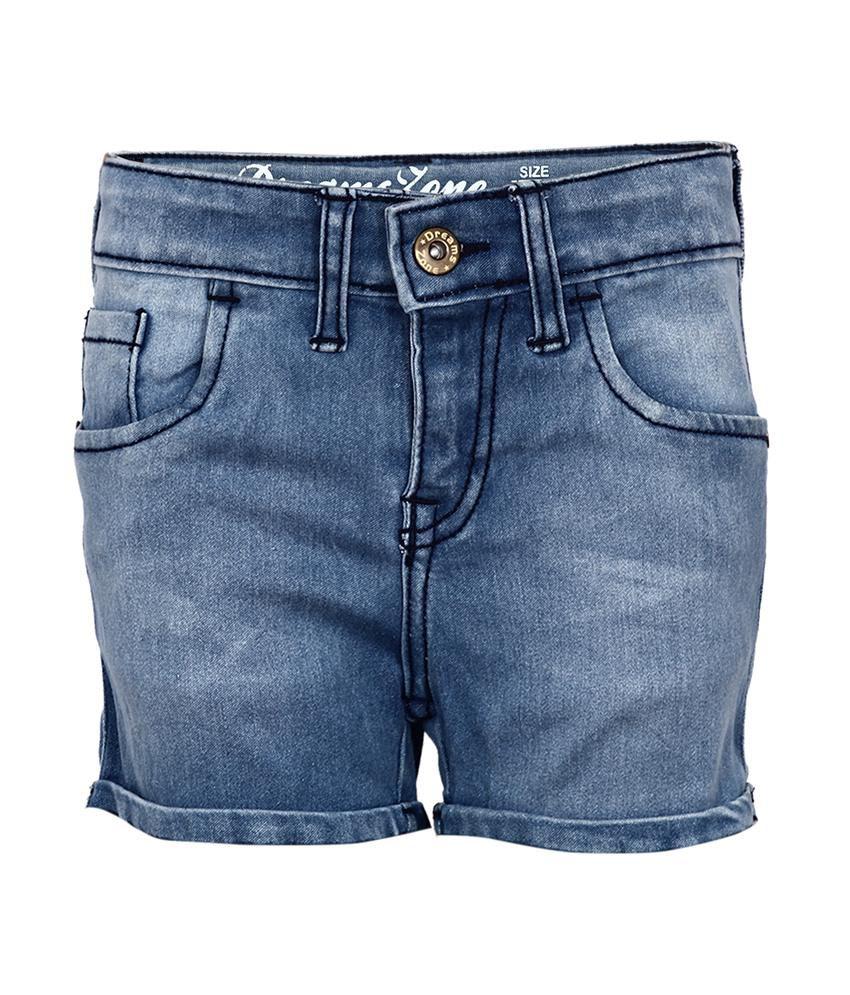 Dreamszone Black Shorts For Girls