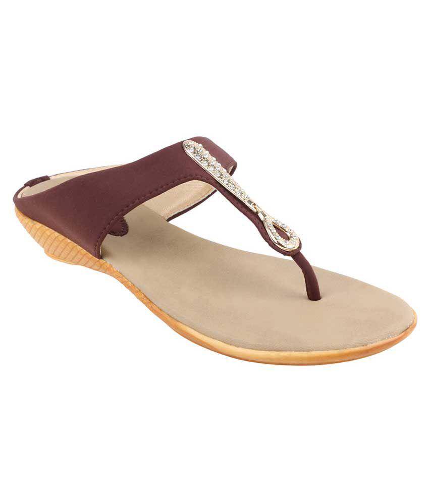 Nutan Stores Brown Wedges Heels