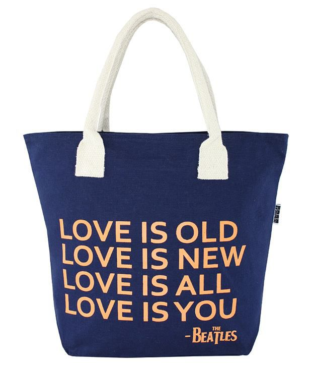 YOLO Blue Canvas Tote Bag