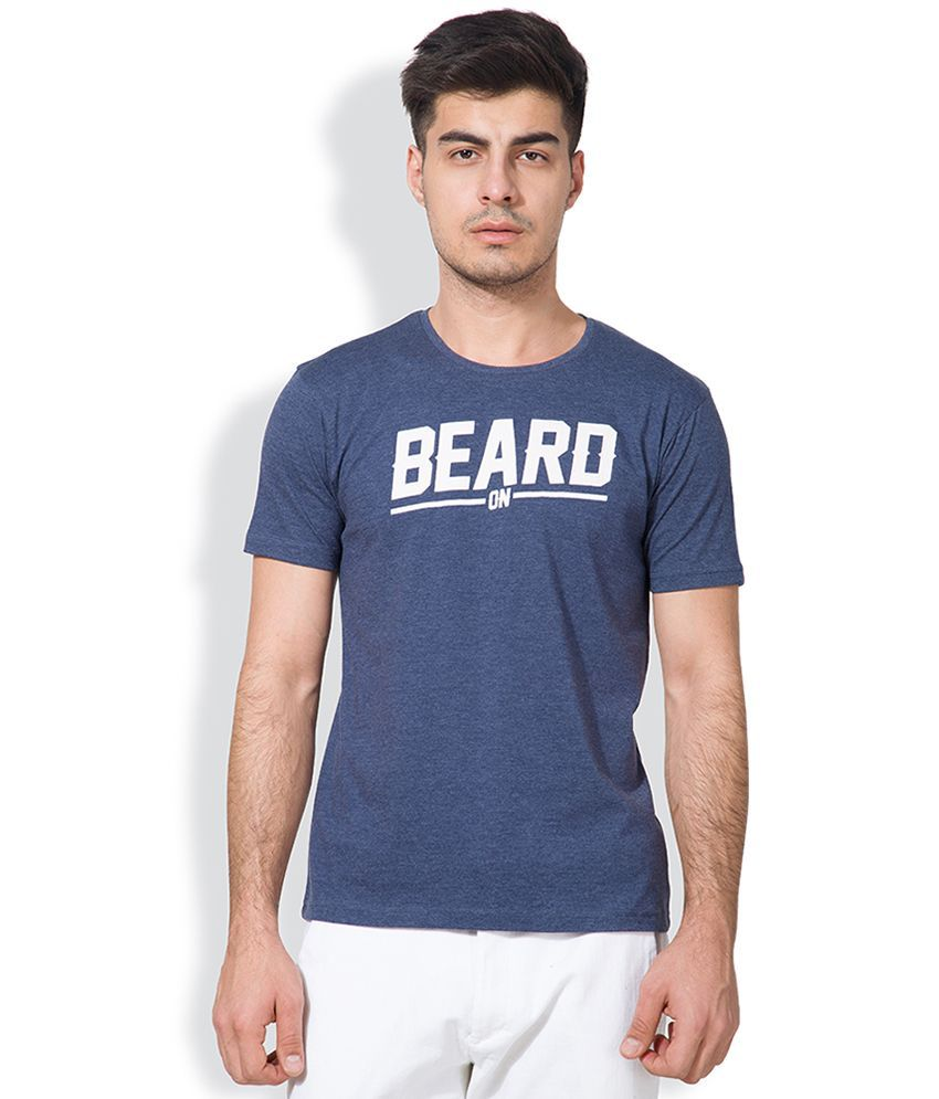 Locomotive Blue Round Neck T Shirt