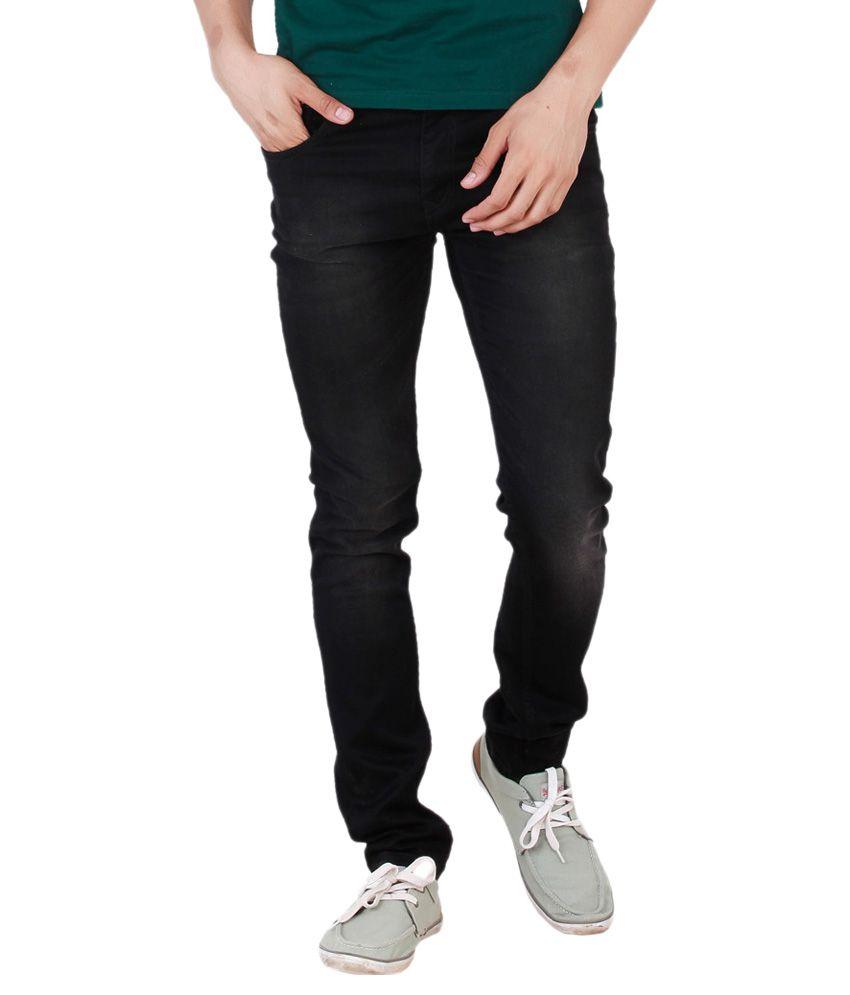 Change360 Black Regular Fit Solid Jeans