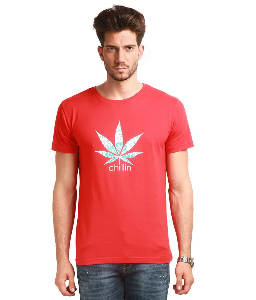 Change360Deg Red Round T Shirts