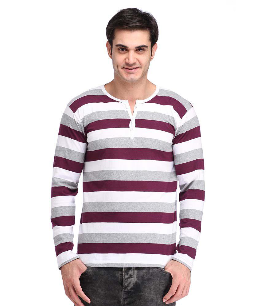Leana Purple Henley T Shirts