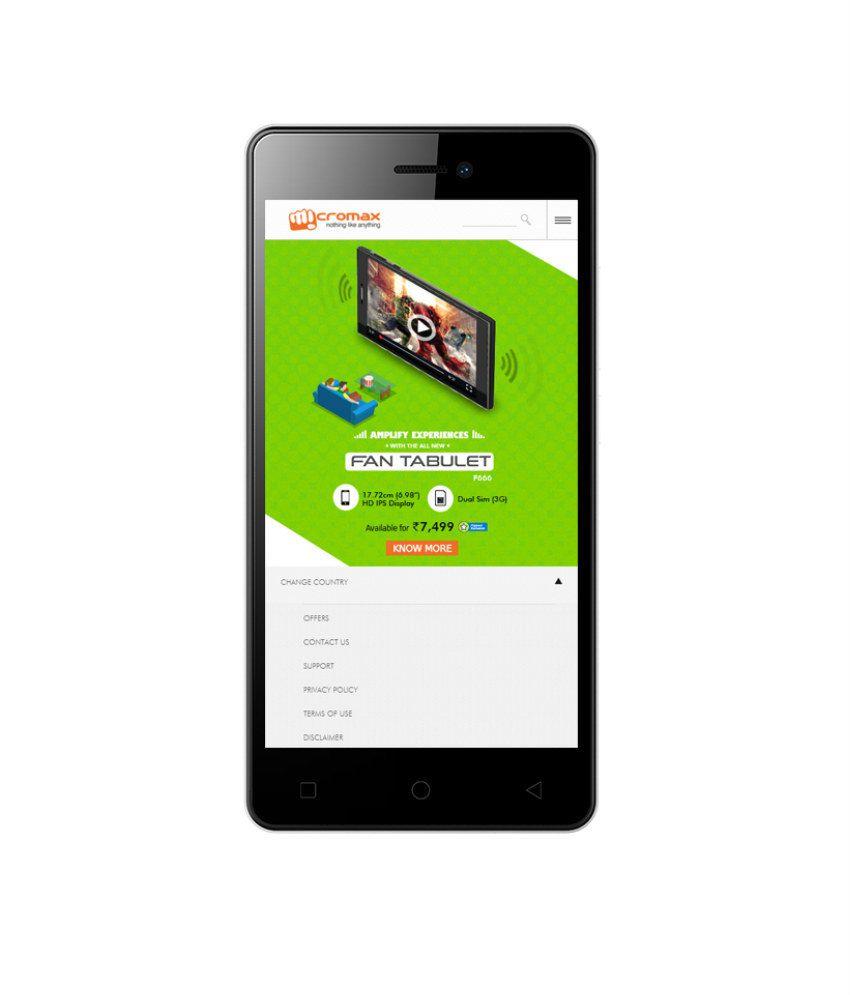 Micromax Canvas Juice 4 Q382 8GB Black 3G