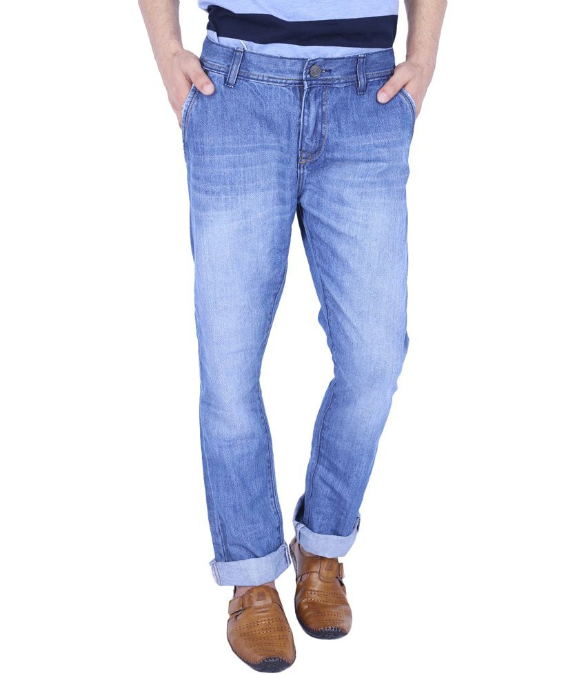 URP Blue Regular Fit Washed Jeans