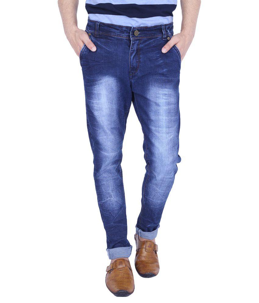 URP Blue Regular Fit Washed Jeans