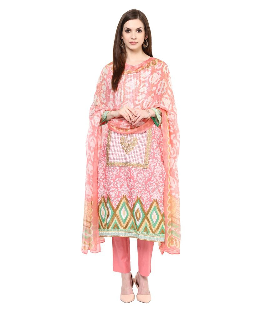 Gul Ahmed Multicoloured Chiffon Pakistani Suits Unstitched Dress Material