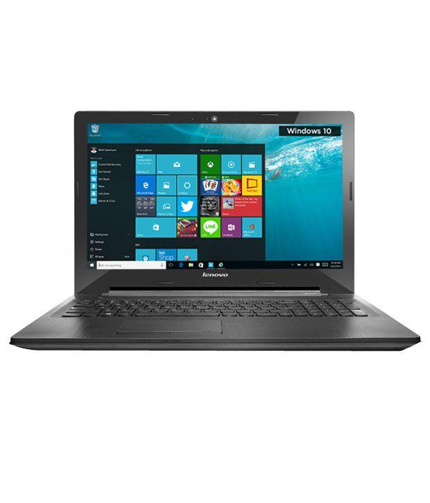 Lenovo G50-80 Notebook (80E503C9IH) (5th Gen Intel Core i3- 4GB RAM- 1TB HDD- 39.62 cm (15.6)- Windows 10) (Black)