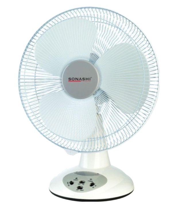 Sonashi 14 SRF-014 Rechargeable Table Fan White Price in