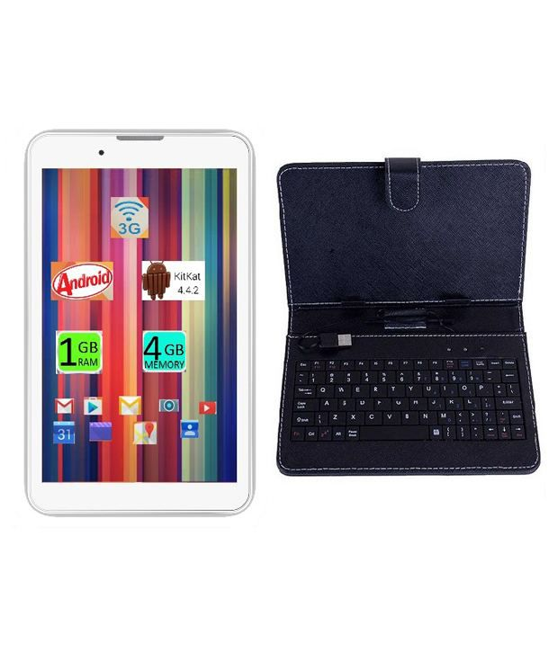 I Kall IK1 (3G + Wifi, Calling, White) with Keyboard Snapdeal Rs. 3499.00