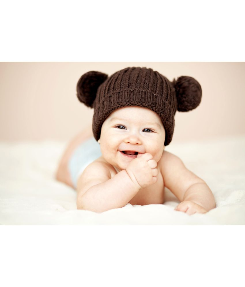 posterhouzz babys love cute baby with bear hat poster: buy