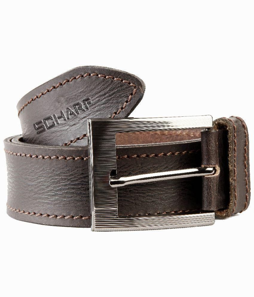 Scharf Brown Genuine Leather Belt for Men