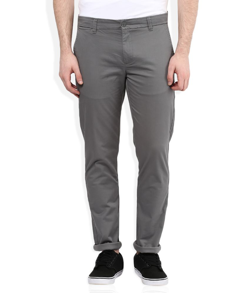 United Colors of Benetton Grey Slim Fit Trousers