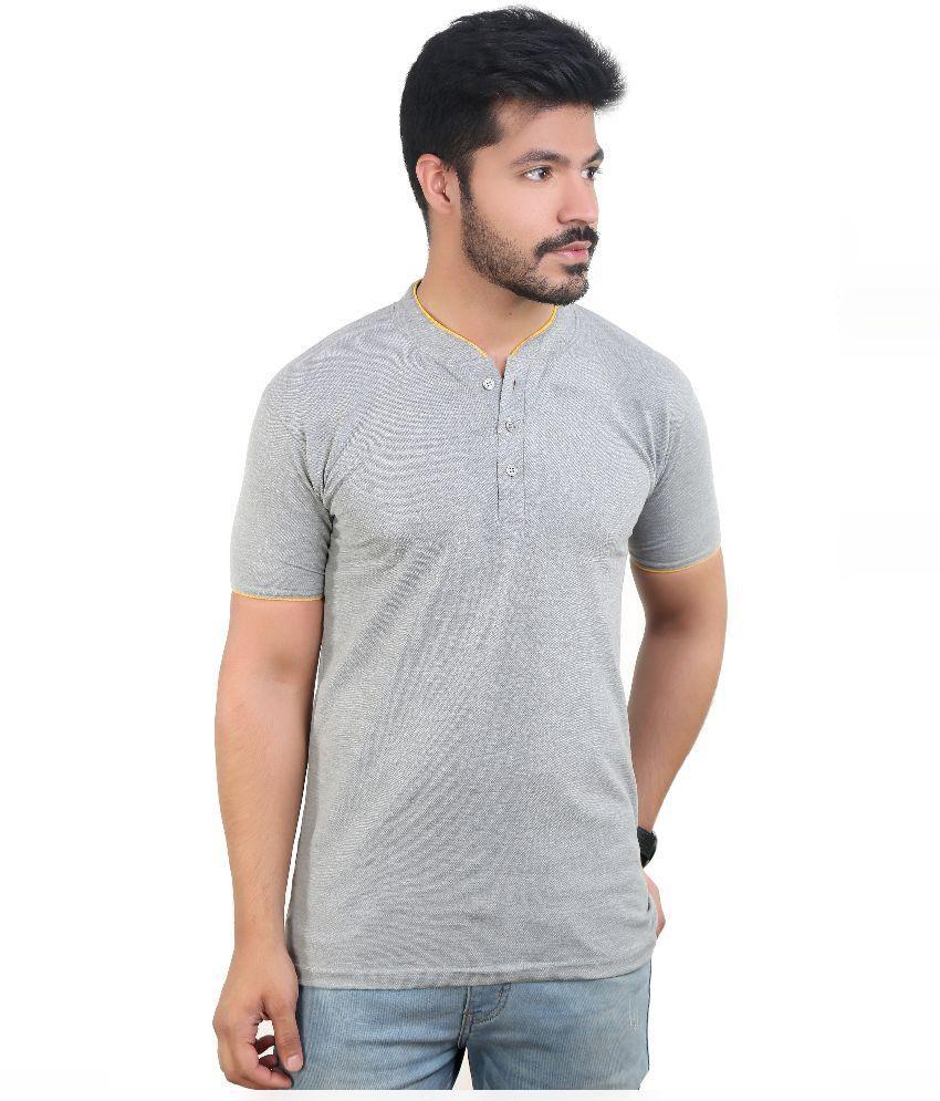 Amusant Grey Henley T Shirt