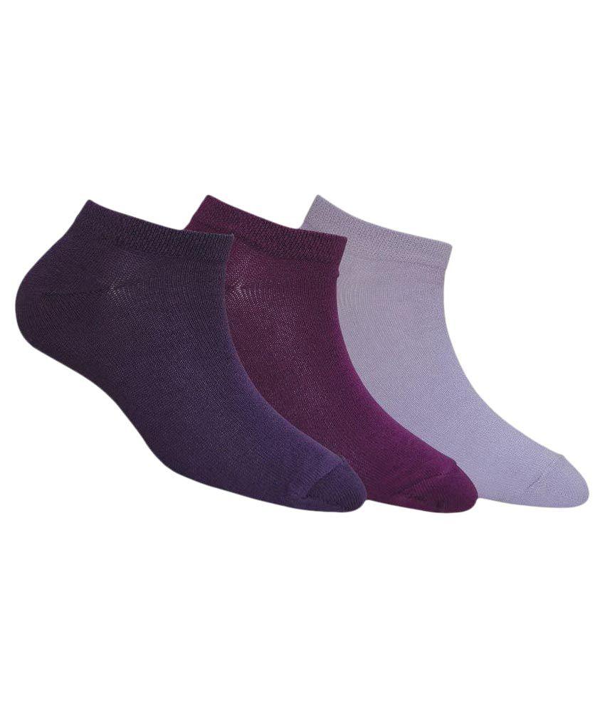 Footmate Socks Multicolour Anklet Length Socks - Pack of 3