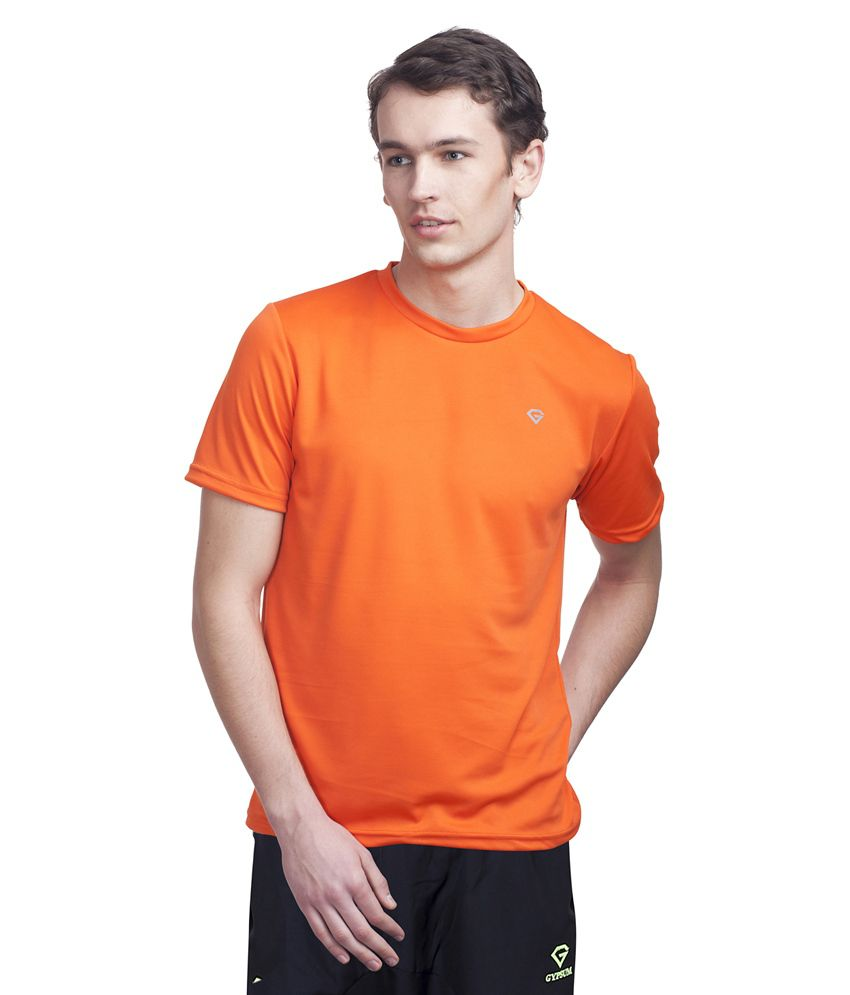 Gypsum Orange Round T Shirt