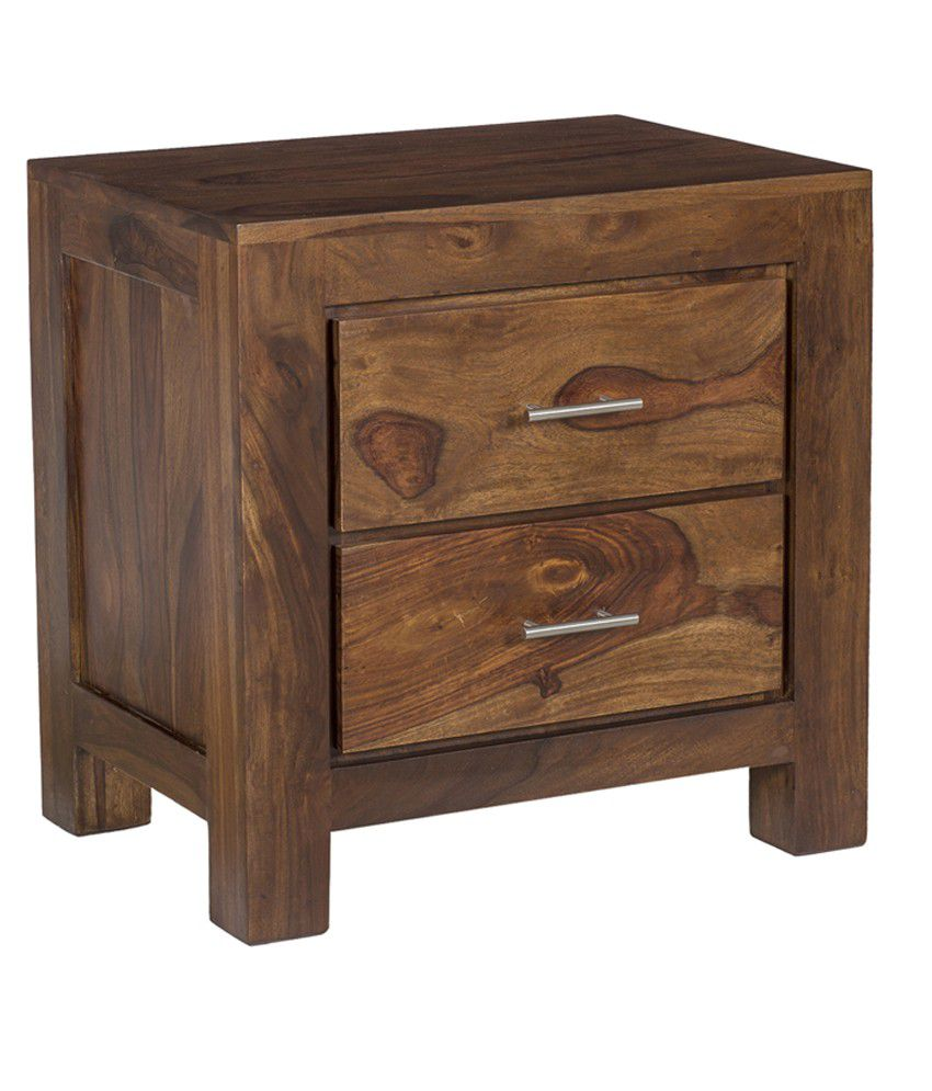 Ramayan Exim Alpha Solid Wood Bedside Table