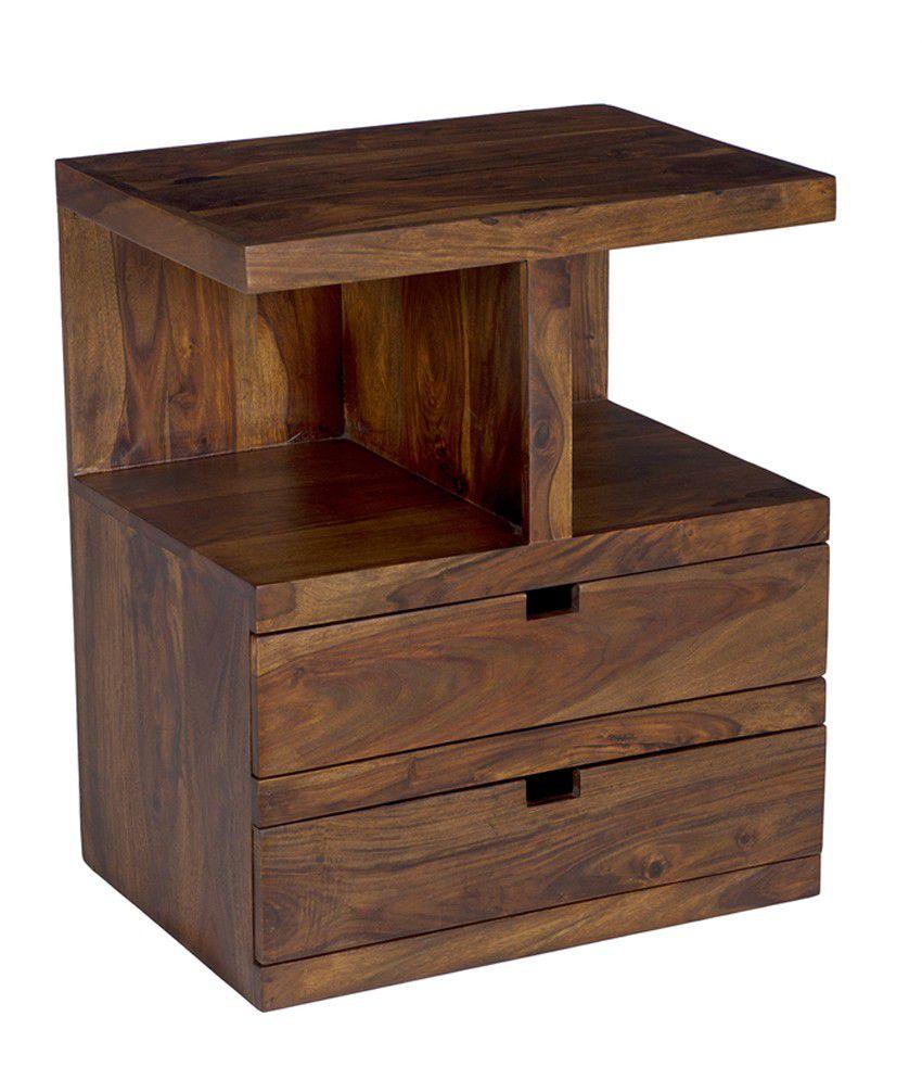 Ramayan Exim Iris Solid Wood Bedside Table