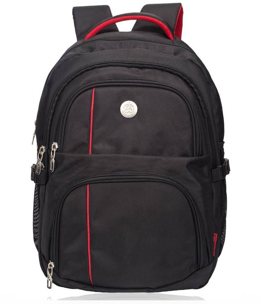 Cosmus Enterprises Black Polyester College Bag