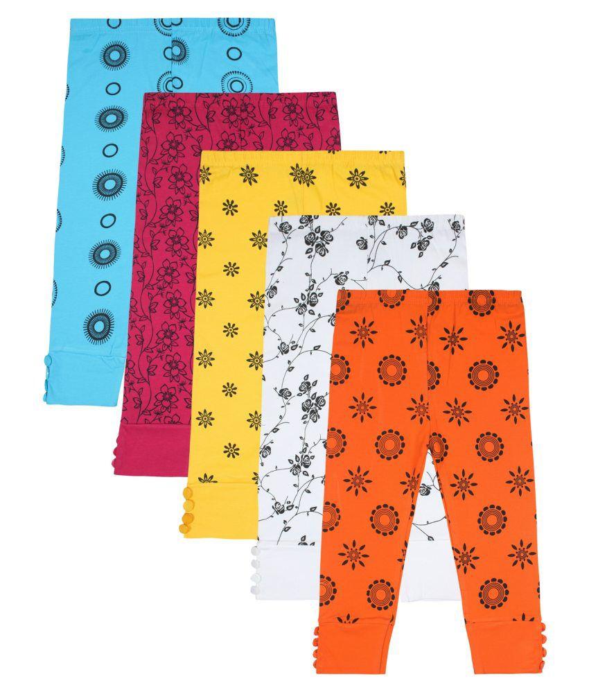 Jazzup Multicolour Cotton Blend Capris