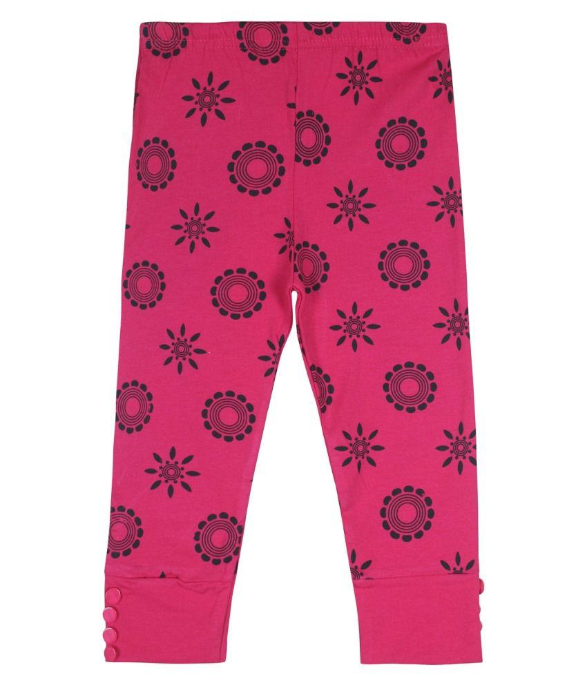 Jazzup Pink Cotton Blend Capris