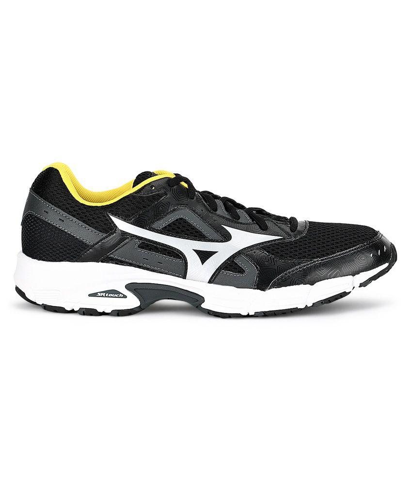 ... Mizuno Empower 3 Running Shoes (Black / Silver / Cyber Yellow) ...