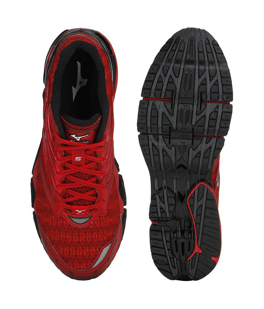 d4a52f8723bb Mizuno Wave Prophecy 5 Running Shoes (Chinese Red / Black / Silver ) ...