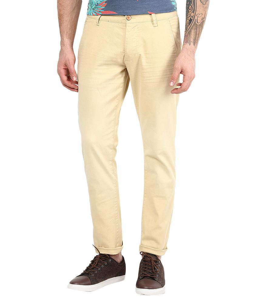Jack & Jones Beige Slim Fit Trousers