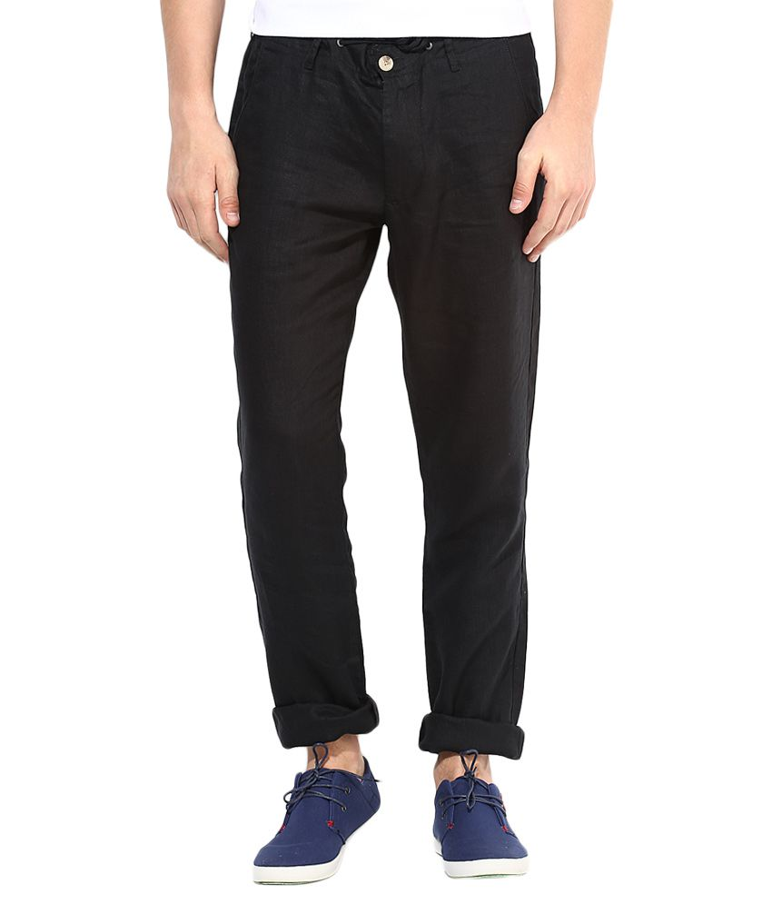 Jack & Jones Black Slim Fit Trousers