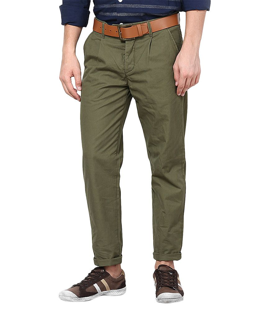Jack & Jones Green Slim Fit Trousers