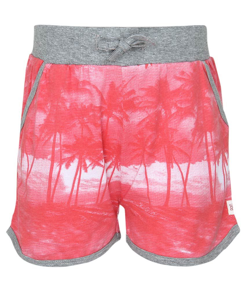 French Connection Kids Pink Regular Fit Shorts
